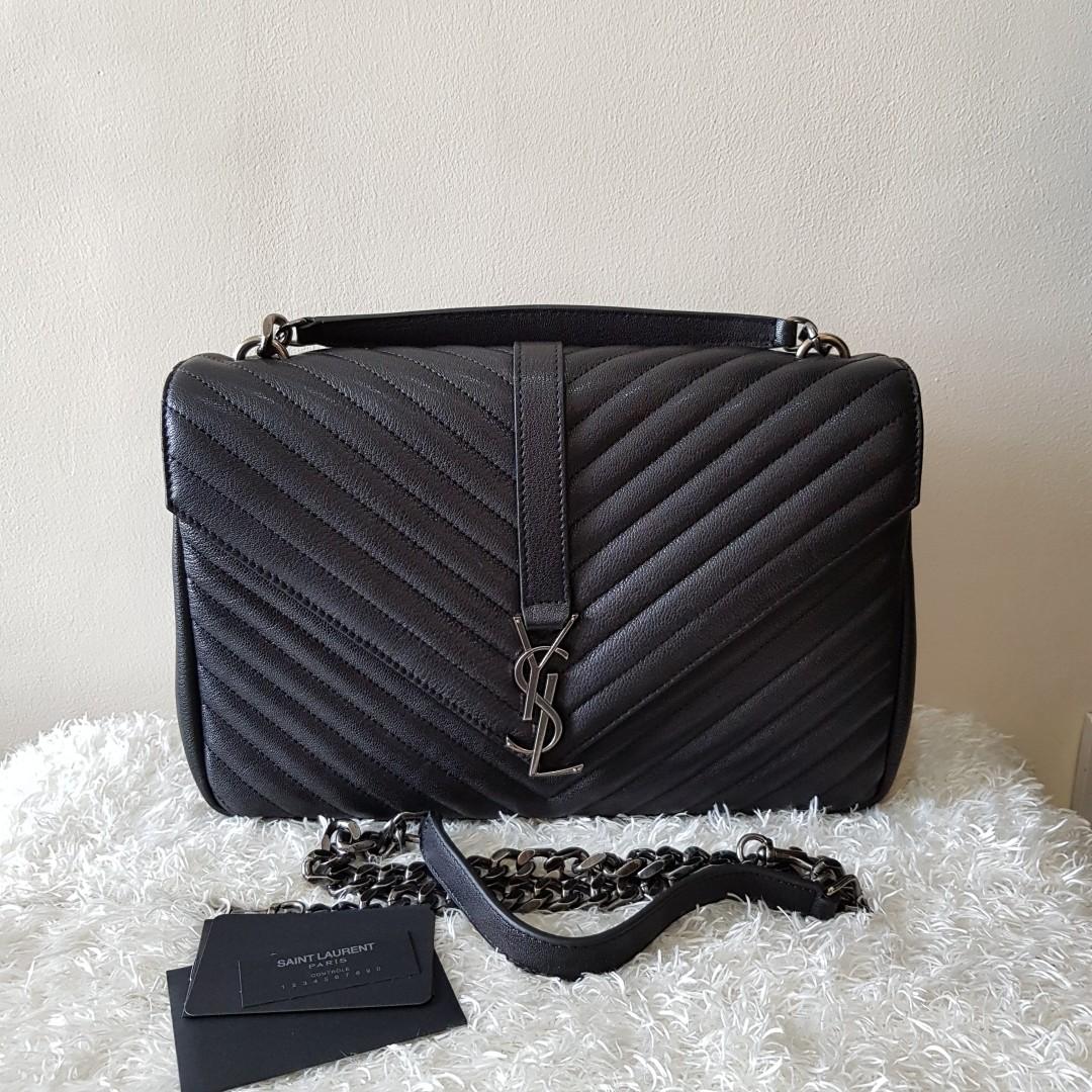 c4bddd02e07 Authentic Yves Saint Laurent Monogram College Large Chain Satchel Crossbody  Bag, Women s Fashion, Bags   Wallets on Carousell