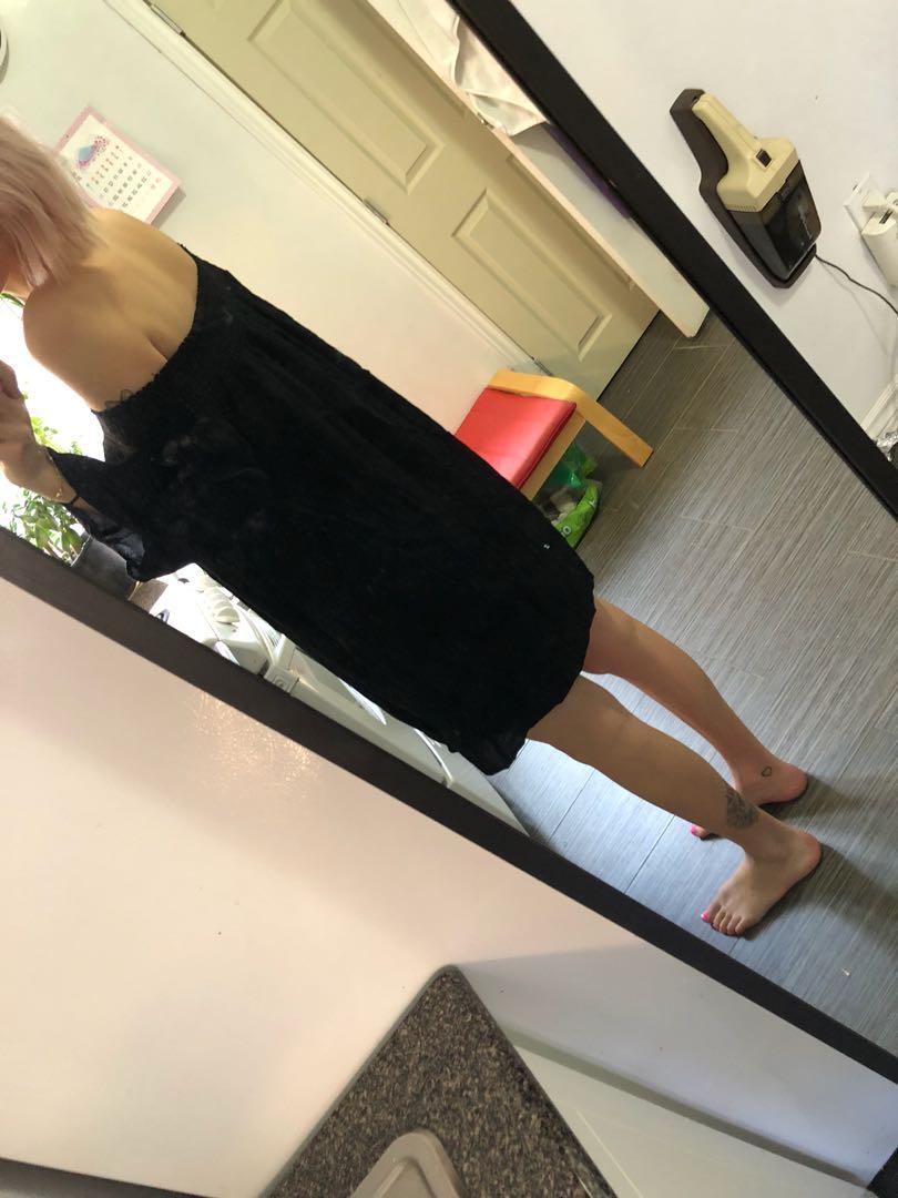 Black Talula Off Shoulder Dress