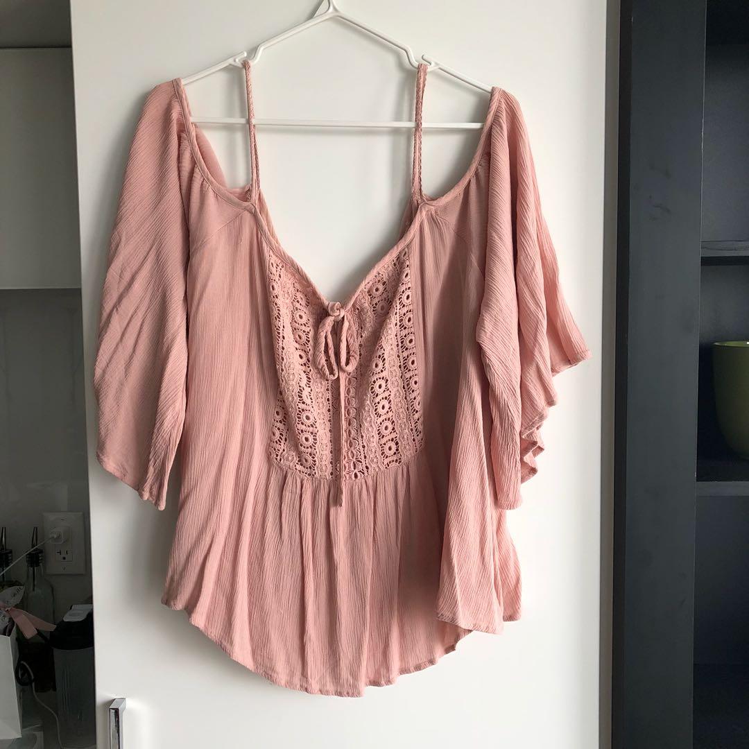 Blush Pink Blouse (2XL)