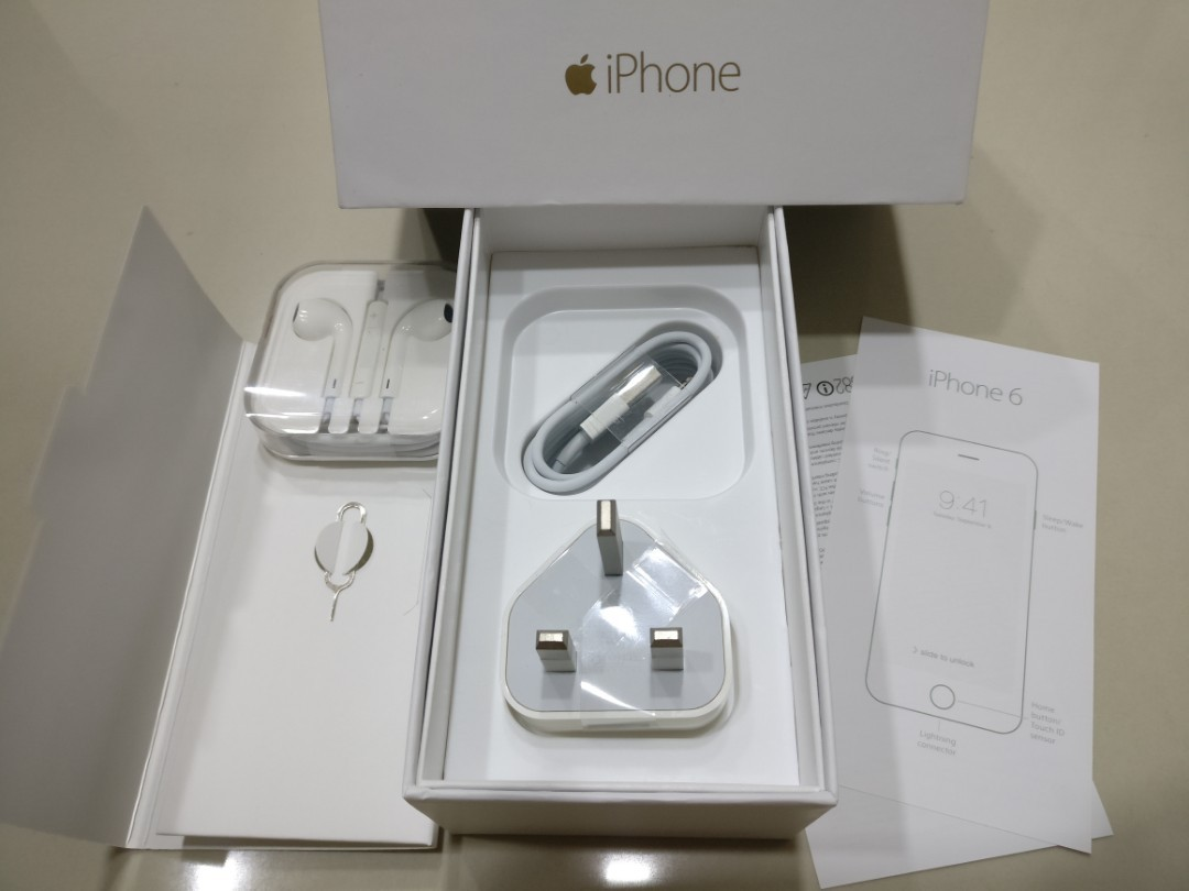 (NEW)BOX IPHONE 6 &ALL ACCESSORIES INCLUDED