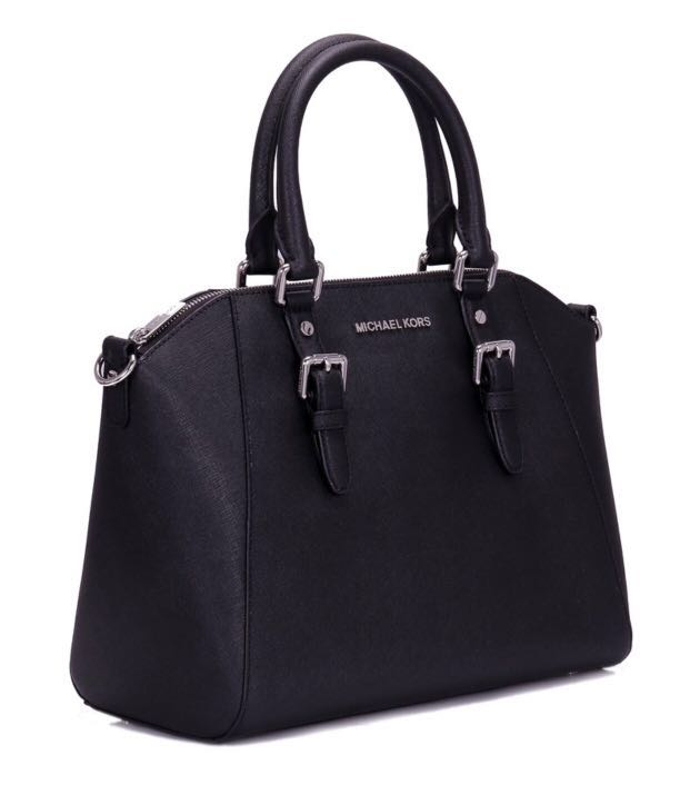 2c4a2905ee841a Brand new - Michael Kors - Ciara LG TZ Satchel Leather Black ...
