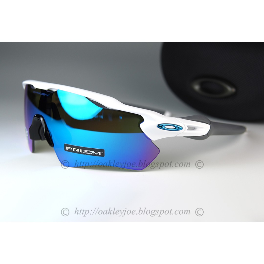 3dd2ec110c Brand New Oakley Radar EV Path polished white + prizm sapphire ...