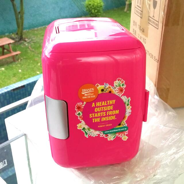 Brand New With Box Pink Mini Fridge Furniture Others On Carousell