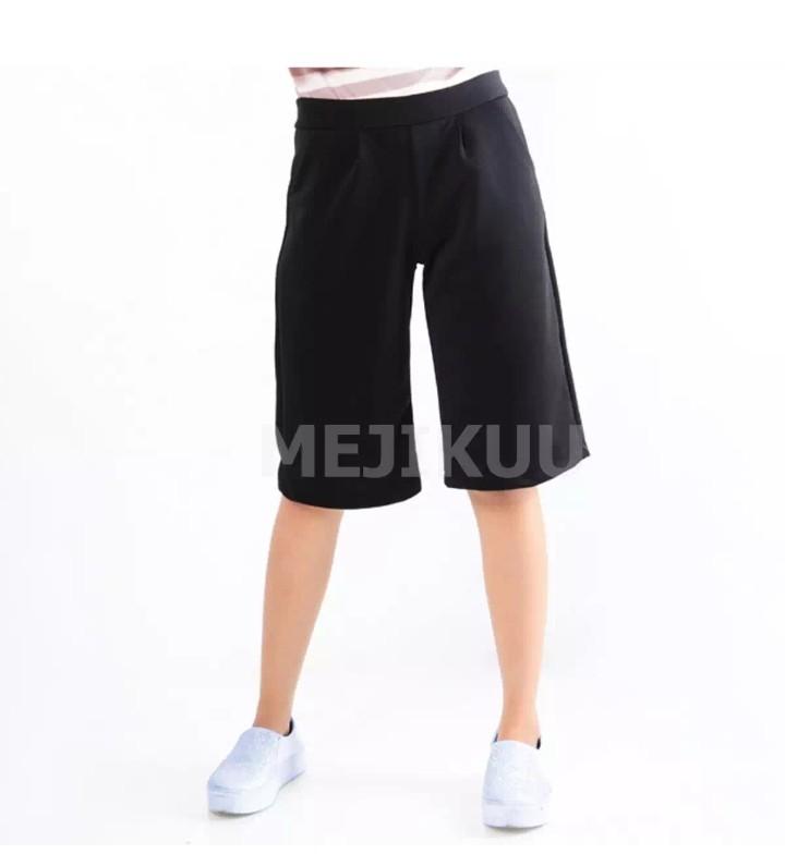 celana kulot pendek wanita celana pendek wanita celana santai wanita mejikuu dd1b599fb0