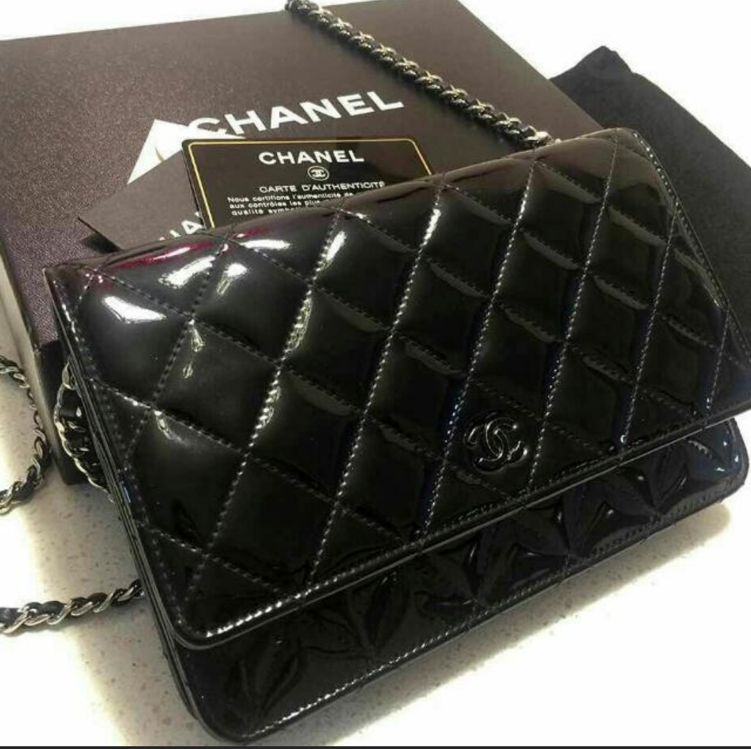 b9c71b436086 Chanel WOC Bag (Patent Leather), Luxury, Bags & Wallets on Carousell