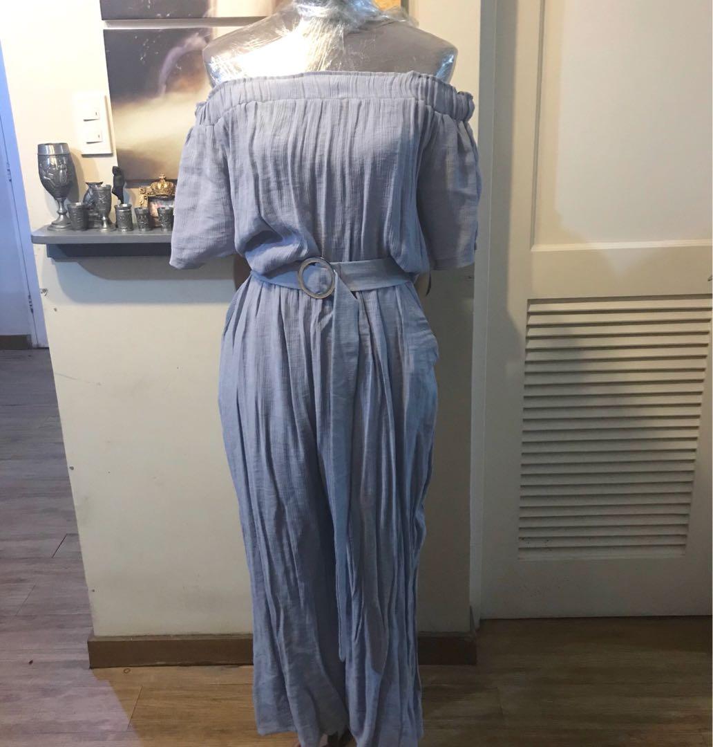 355b3908c Coco Cabaña: Sky Blue Off-Shoulder Romper; Size: XL, Women's Fashion ...