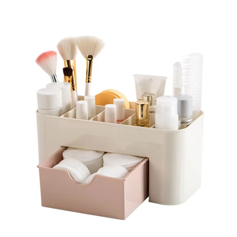 Cosmetic Organizer Jewelry Box Storage Drawer Desk Makeup Case Brush Box Lipstick Casket For Decorations Make Up Storage