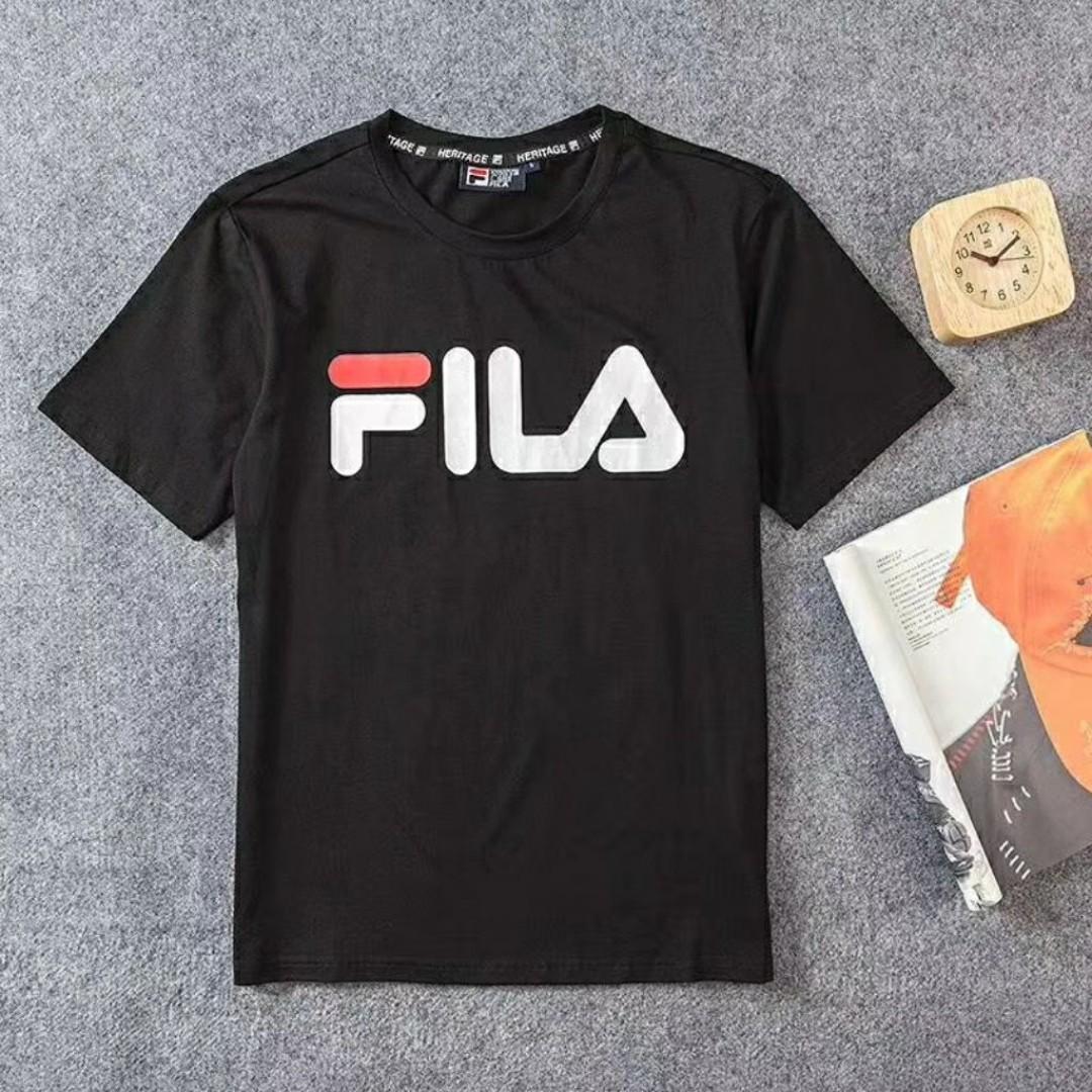 f0ec38f516ef FILA White Line Heritage Logo T Shirt