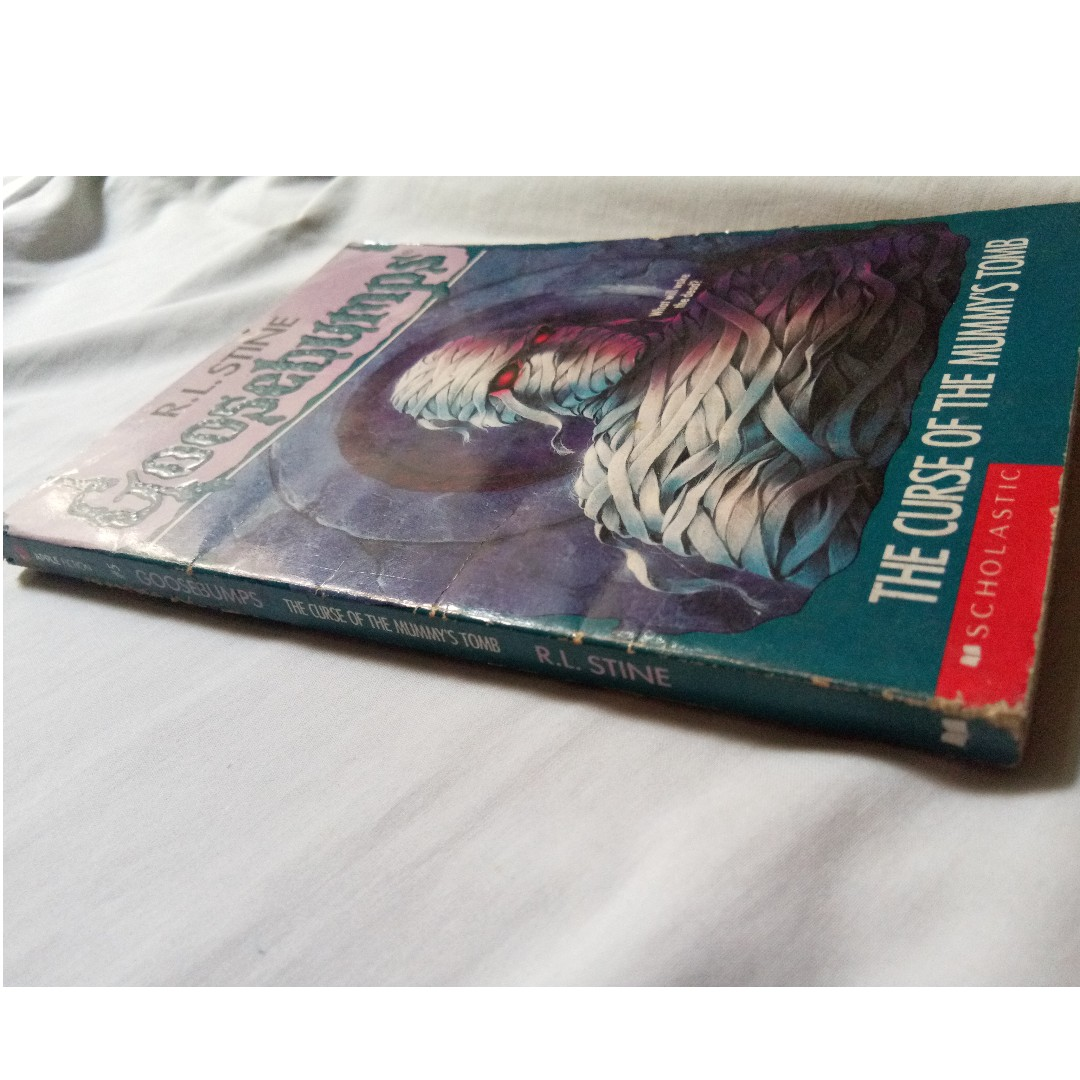 Goosebumps the curse of the mummys tomb the curse of the goosebumps the curse of the mummys tomb the curse of the creeping coffin give yourself goosebumps 8 books books on carousell solutioingenieria Image collections