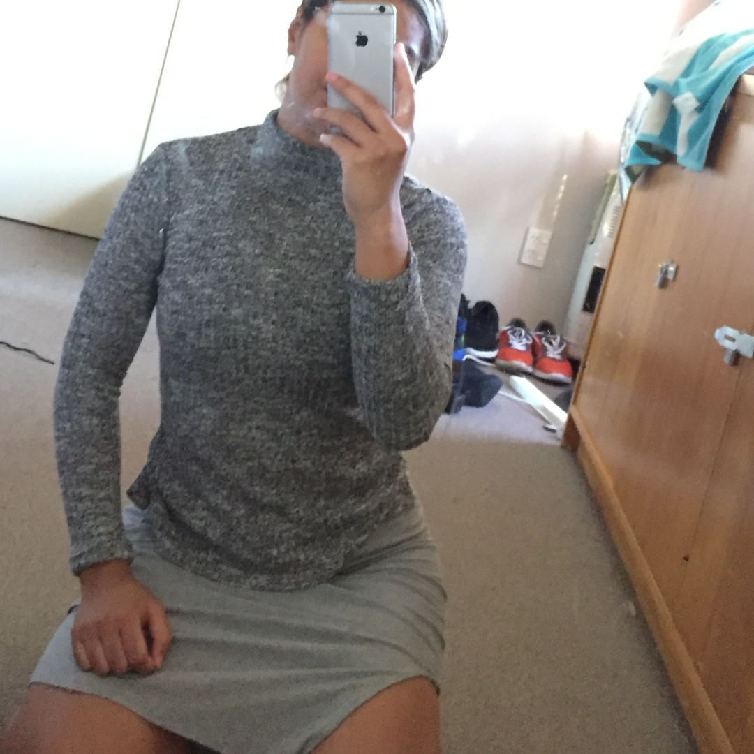 Grey Knitted Sleeve