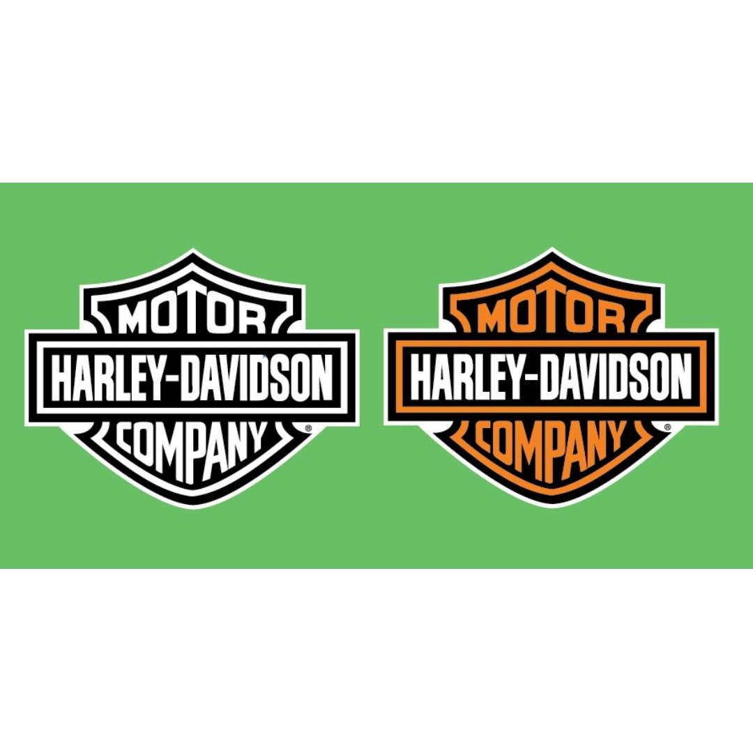Harley davidson motor company logo sticker decals