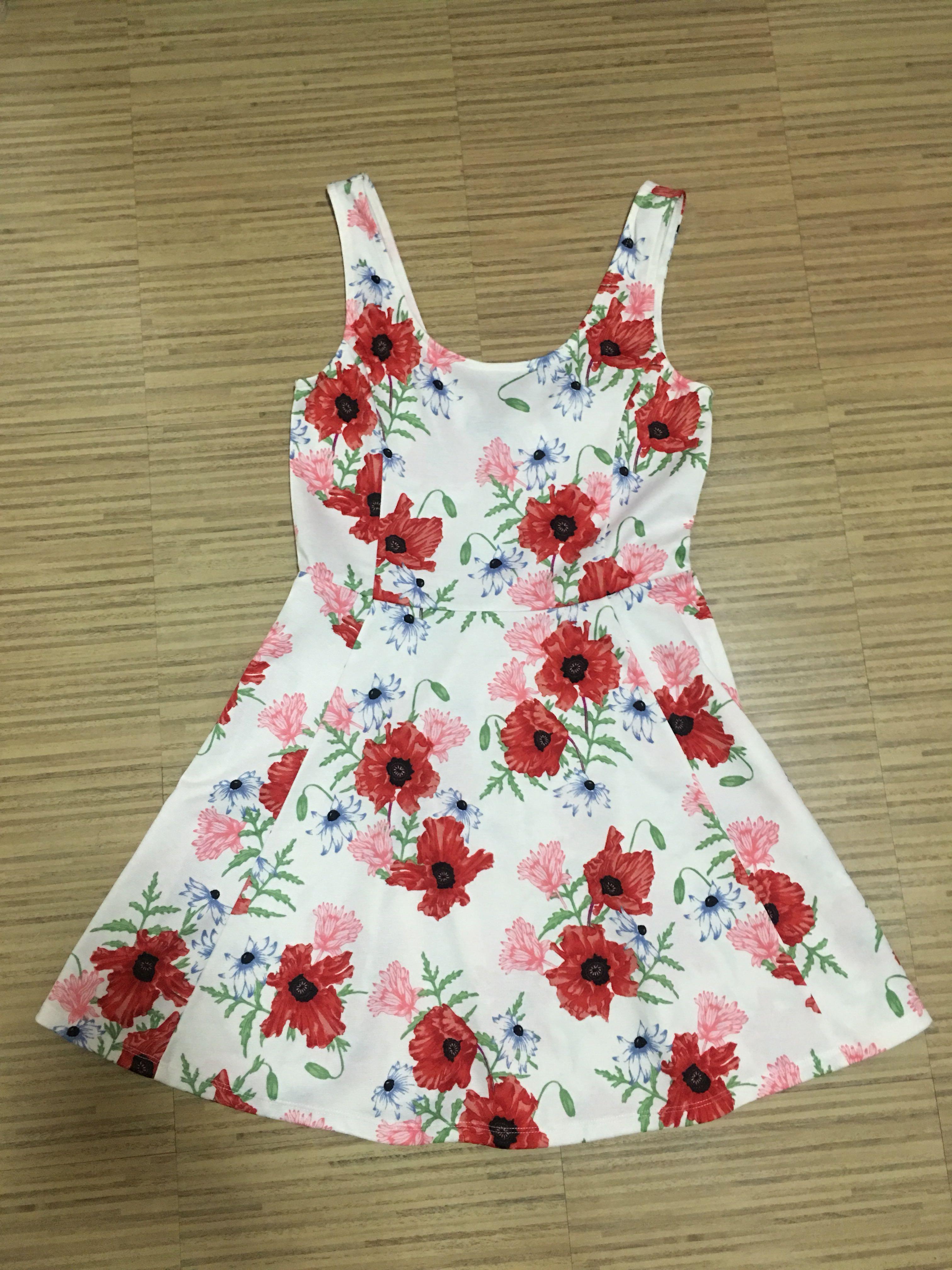 H&M Floral Low Back Dress