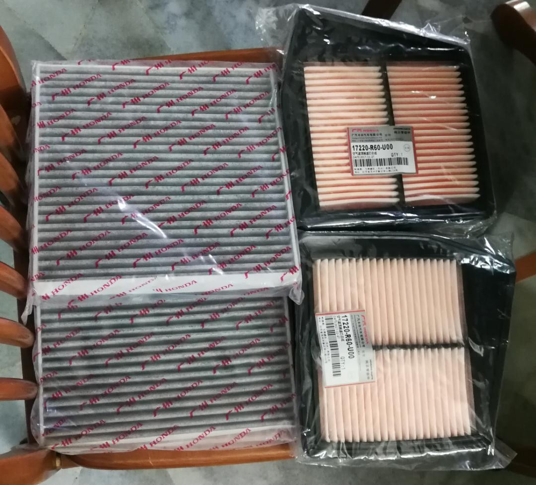 Honda Accord 2.0 (8th Gen) Air Filter And Cabin Filter, Auto Accessories On  Carousell
