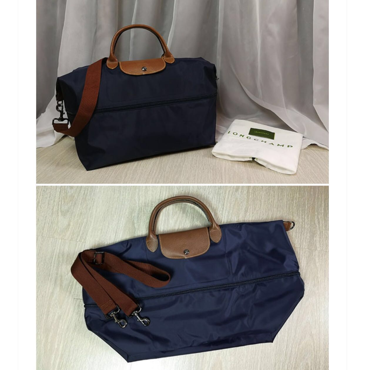 AUTH LONGCHAMP LE PLIAGE EXPANDABLE TRAVEL TOTE 1199089 (NAVY) LIMITED  UNITS ONLY!!!, Women\u0027s Fashion, Bags \u0026 Wallets on Carousell