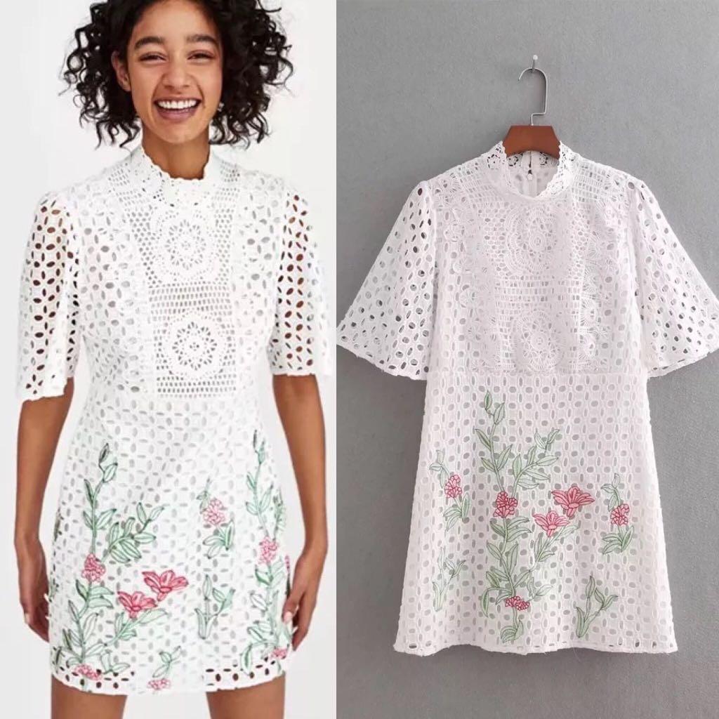 ea26ef81e46 💃🏼Inspired Zara Embroidered Lace Dress💃🏼