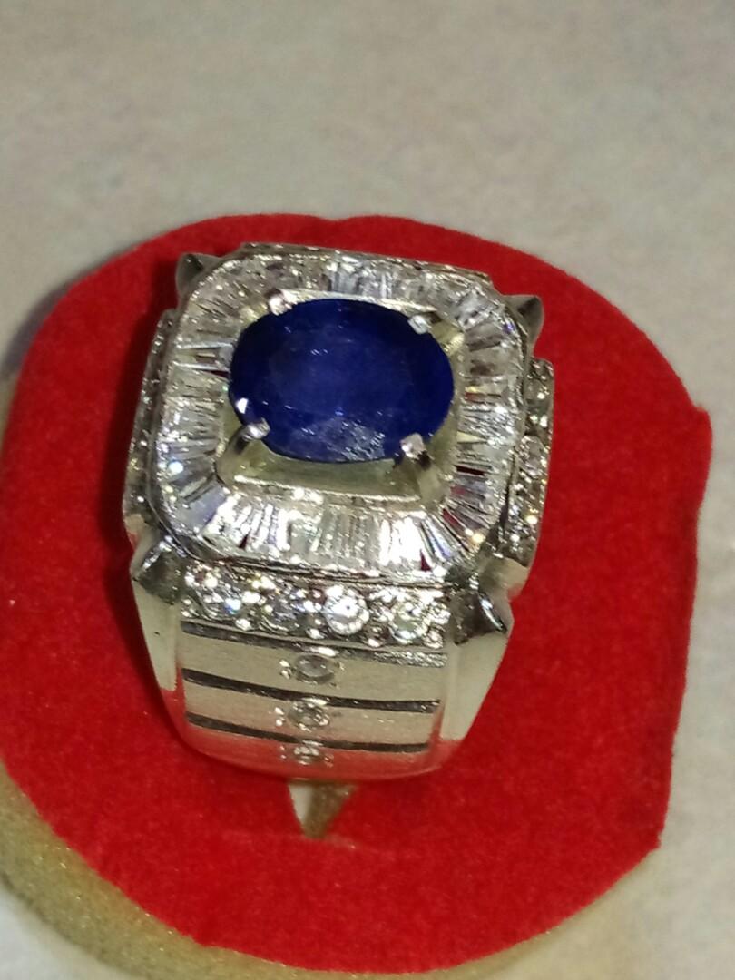 Jual Batu bluesafir Corundum original Sri Lanka