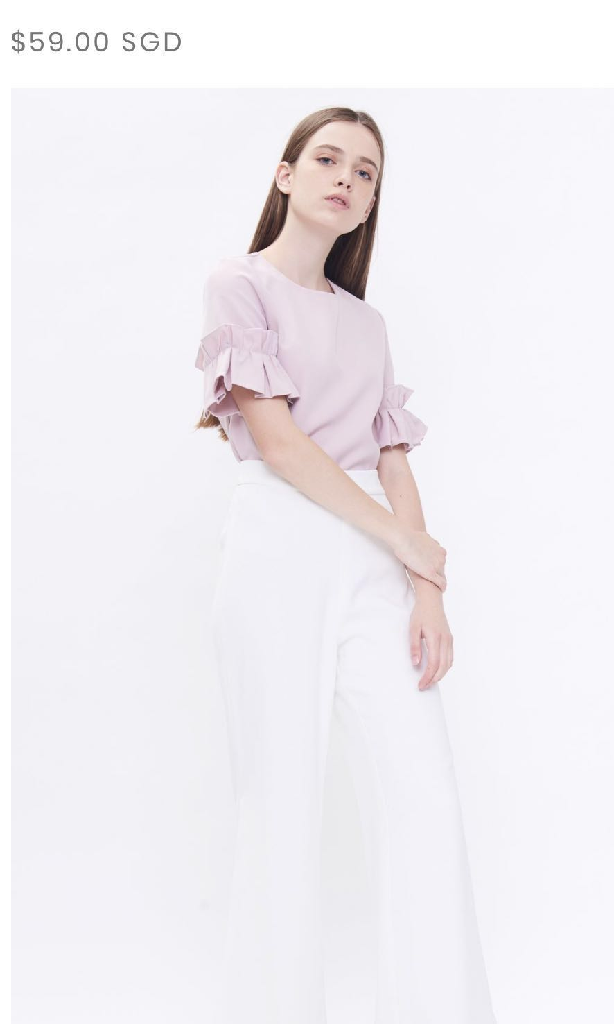57d095d60dd8d0 Klarra Box Pleat Sleeve Top (Pink)