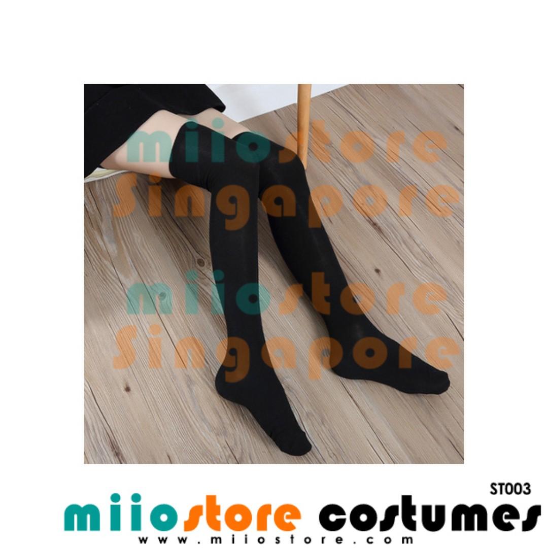 1937a836a Knee-High Stockings Brand New Navy Stripes Black Stripes Classic Pantyhose  Elastic Hose