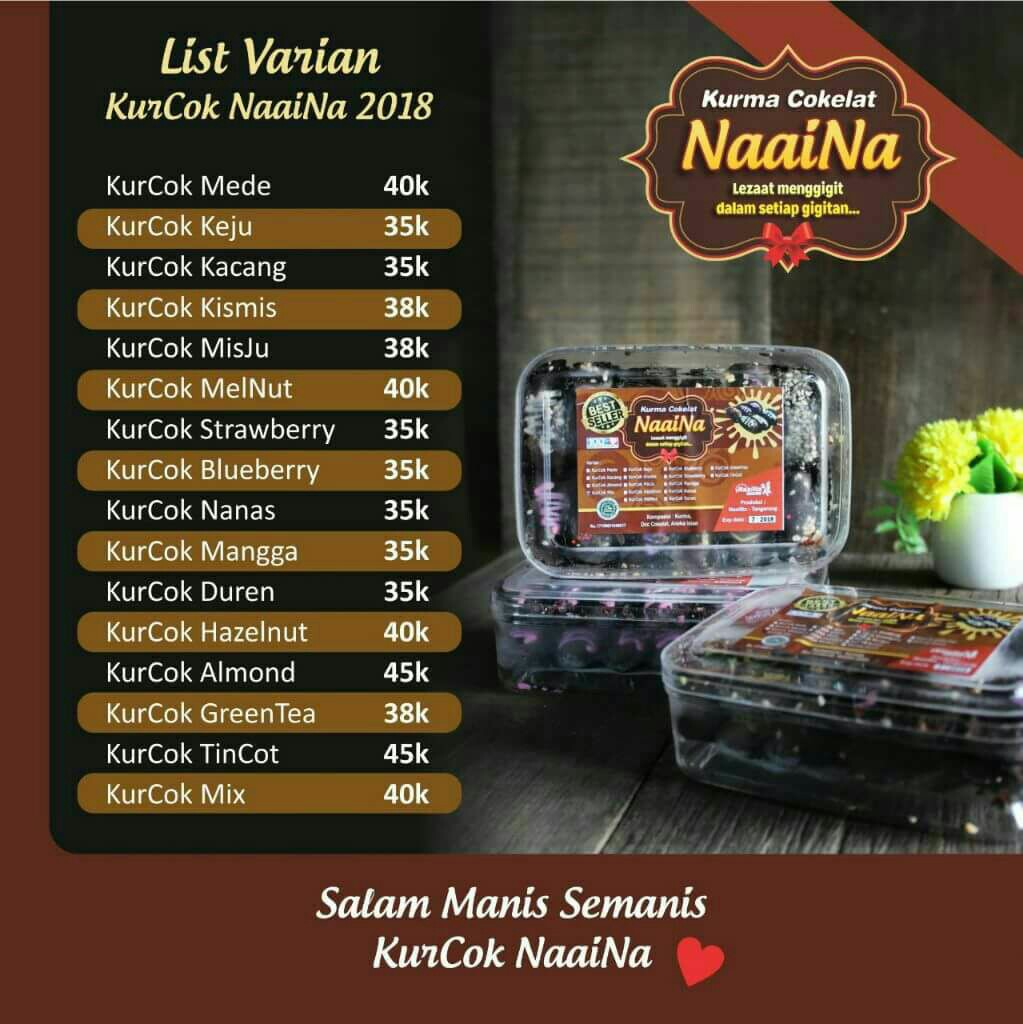 Kurcok Kurma Coklat Naaina Food Drinks Baked Goods On Carousell Isi Almond