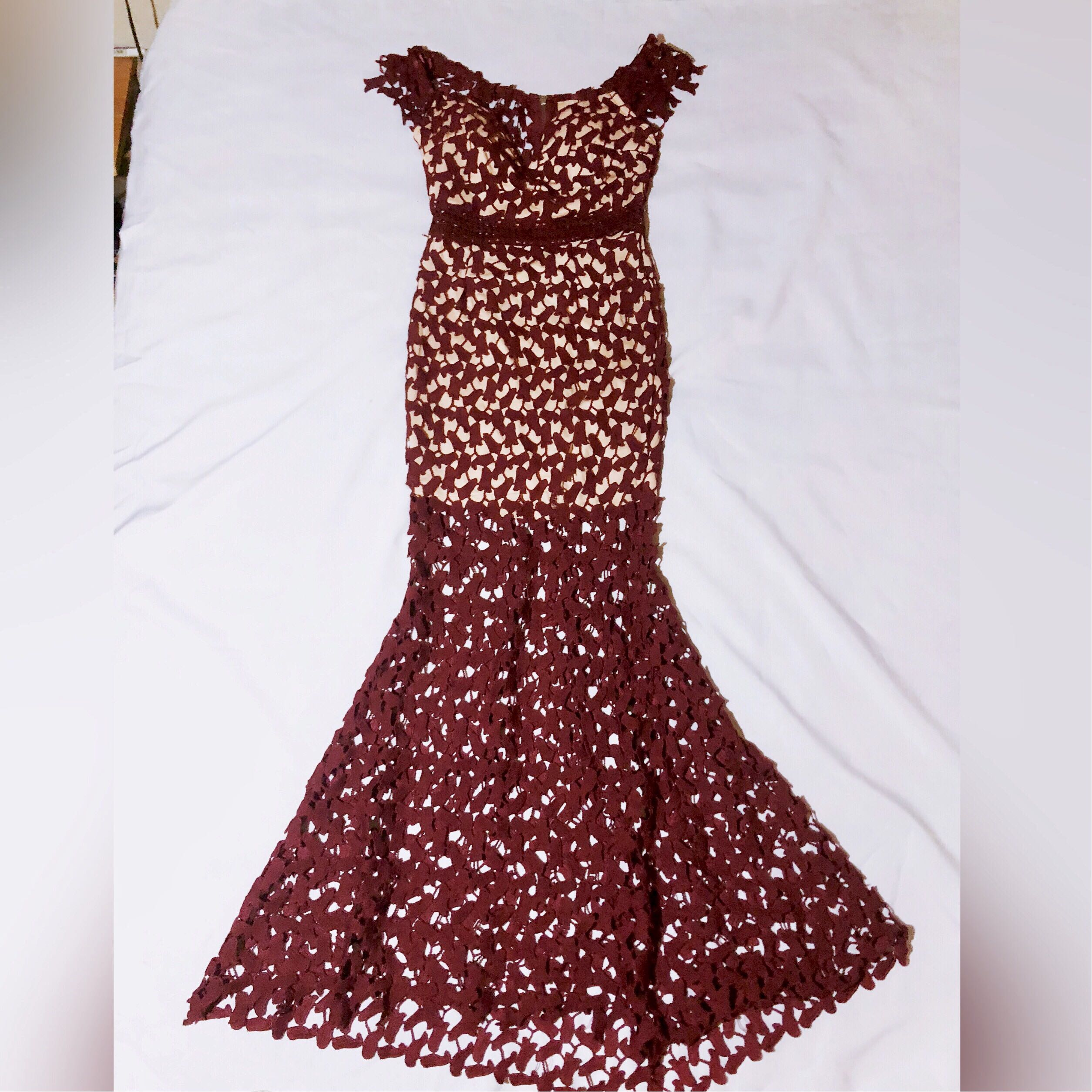 Lace Long Gown and evening dress for rent