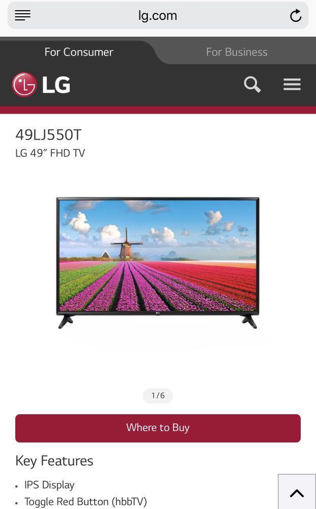 LG LED TV 49LJ550