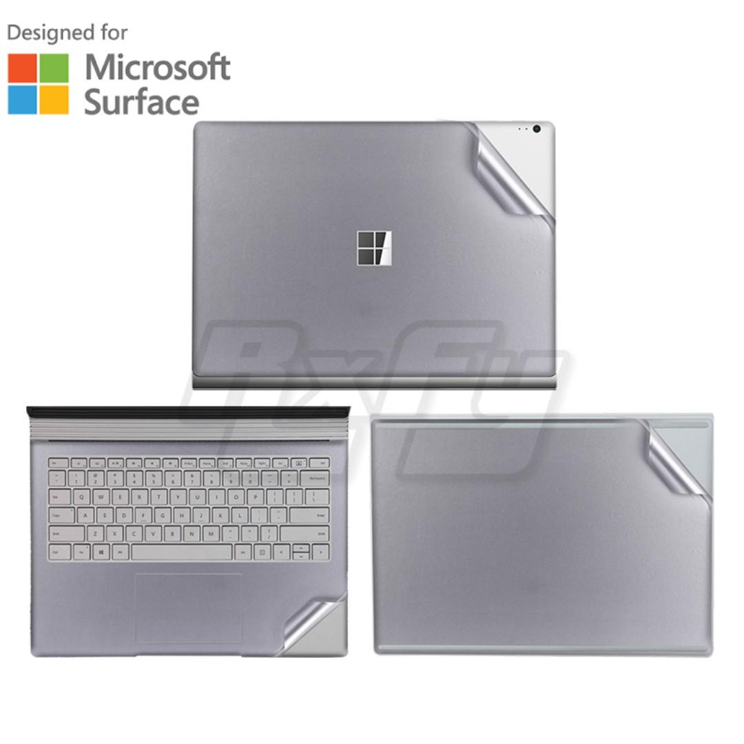 Matte Silver Microsoft Surface Book 2 Laptop Skin Decal