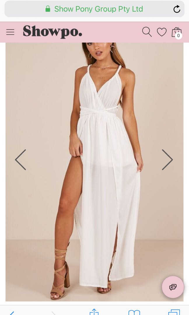 Maxi Playsuit In White