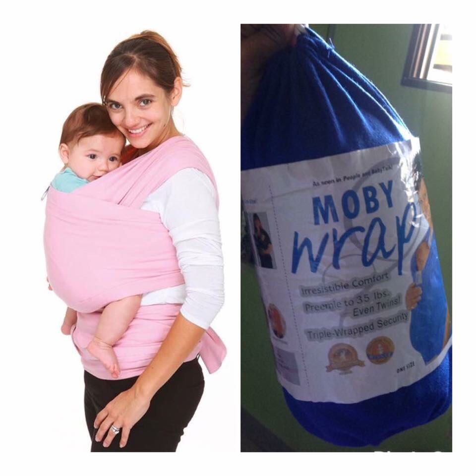 Moby Baby Wrap Blue Babies Kids Others On Carousell