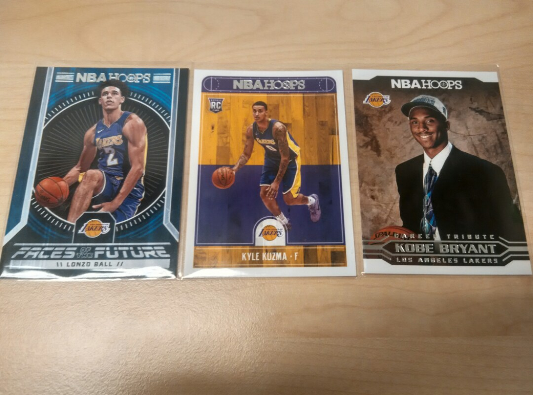 Nba Trading Cardsla Lakers Rookies And Kobe Rookie Card
