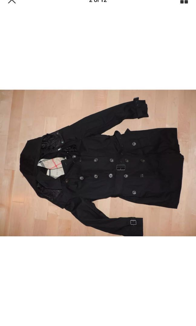New Authentic Burberry Brit Reymore Black Trench Coat Jacket
