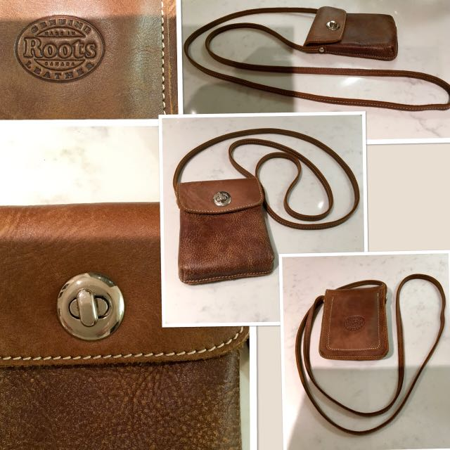 """New Roots Tribe pouch in chestnut brown   6""""x 4.5"""""""