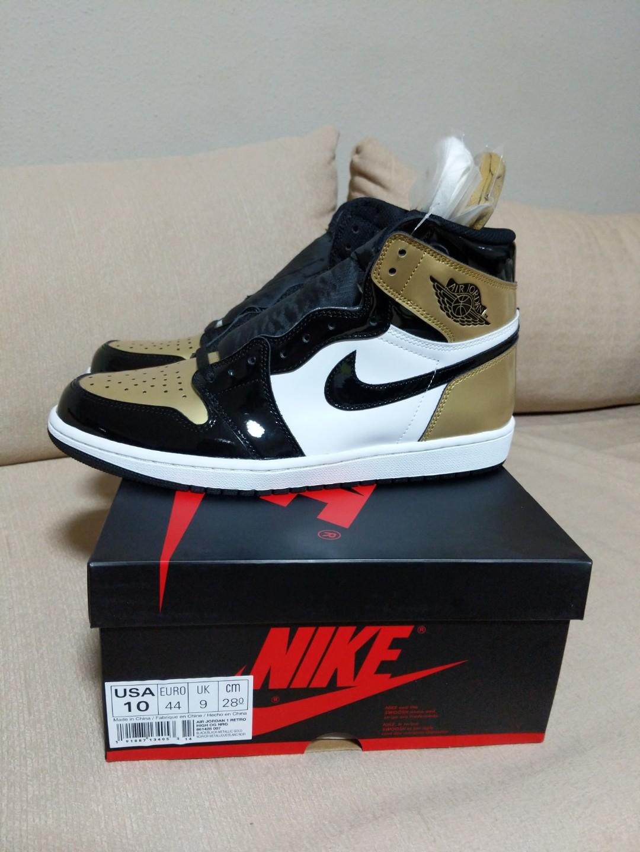 19e6f85a4a92 Nike Air Jordan 1 Retro High OG NRG Gold Toe