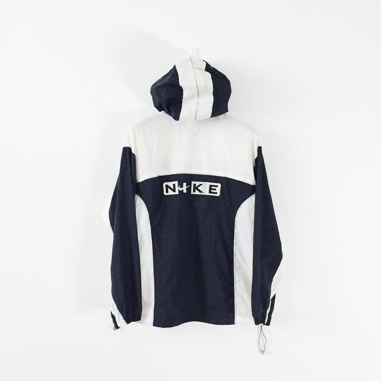 26f45badc05f Nike Vintage Embroidery Logo Full Zip Windbreaker Hoodie Jacket ...
