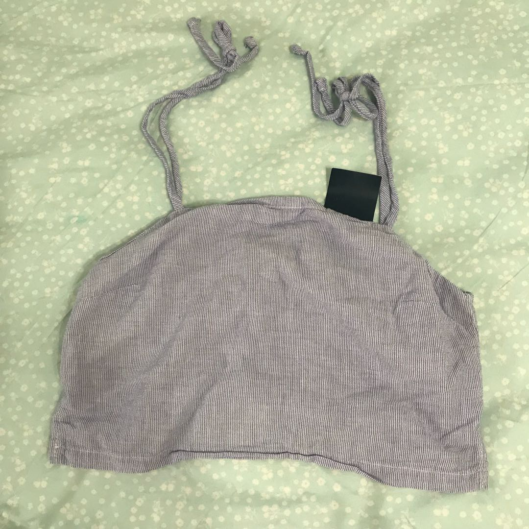 c8759ff1b75 NWT Brandy Melville pinstripe blue self tie dena tank top, Women's ...