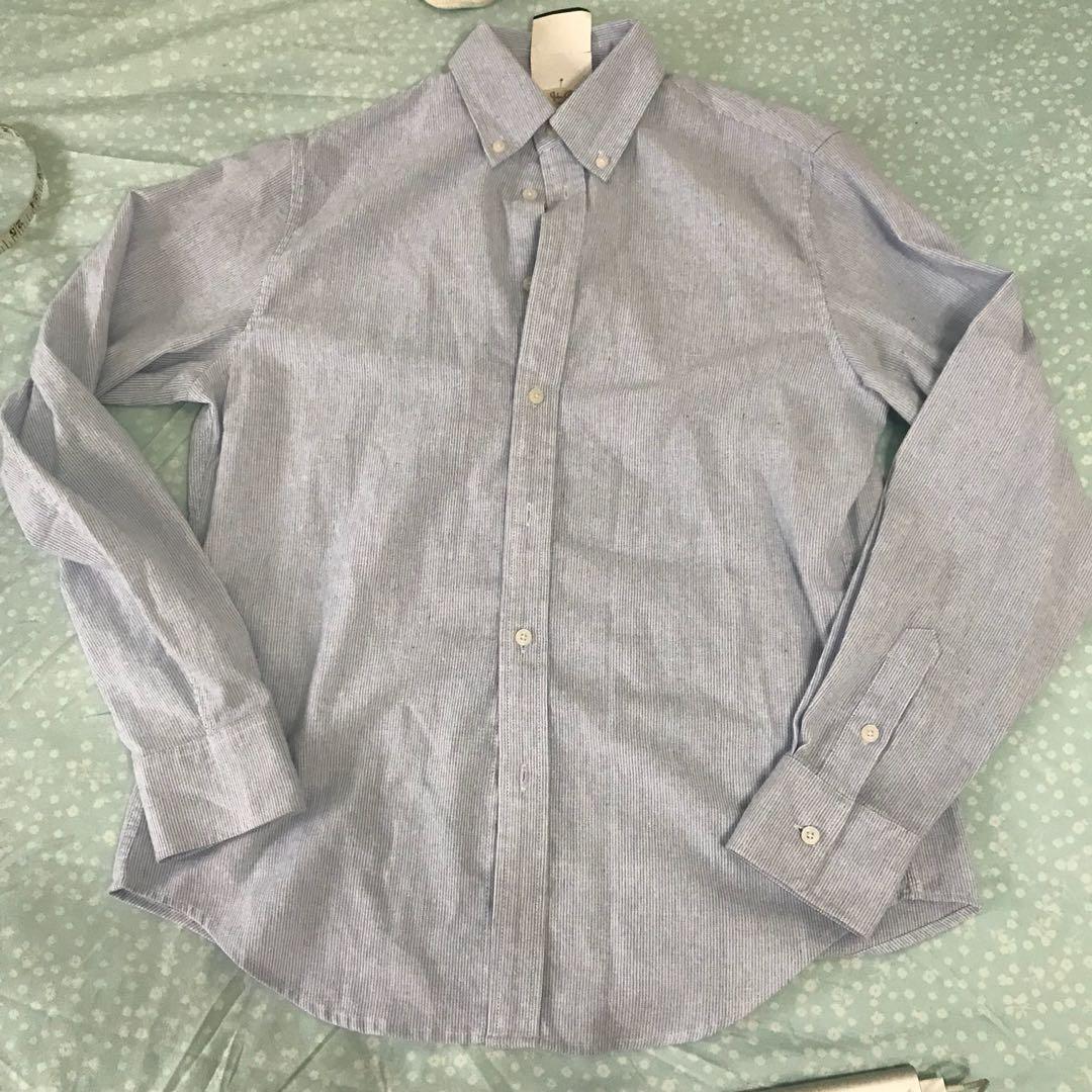 effdac1af7f30 NWT Brandy Melville white blue pinstripe isabela shirt