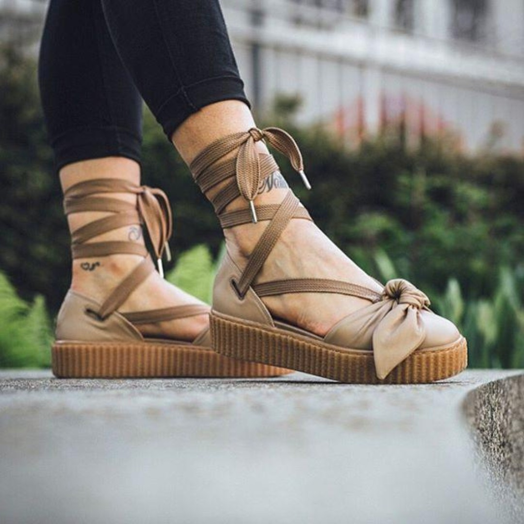 outlet store 5a71b 32e2a Puma Fenty x Rihanna Bow Creeper Sandals 'NaturalOatmeal ...