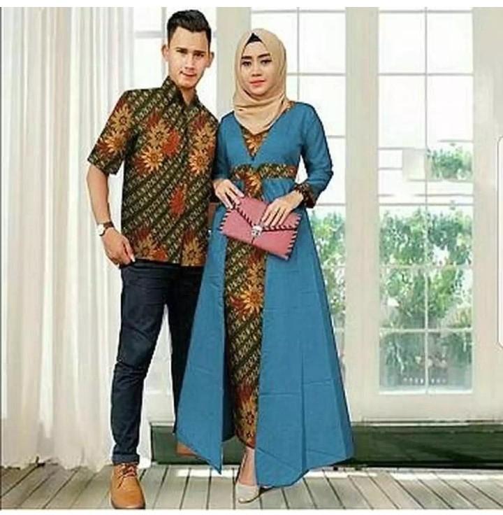 Baju Setelan Batik Wanita: Setelan Baju Batik 2in1 Baju Couple Batik Maxy Dress