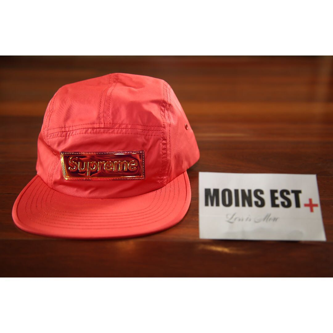 a85e045180ed SUPREME Iridescent Camp Cap - Red SS17