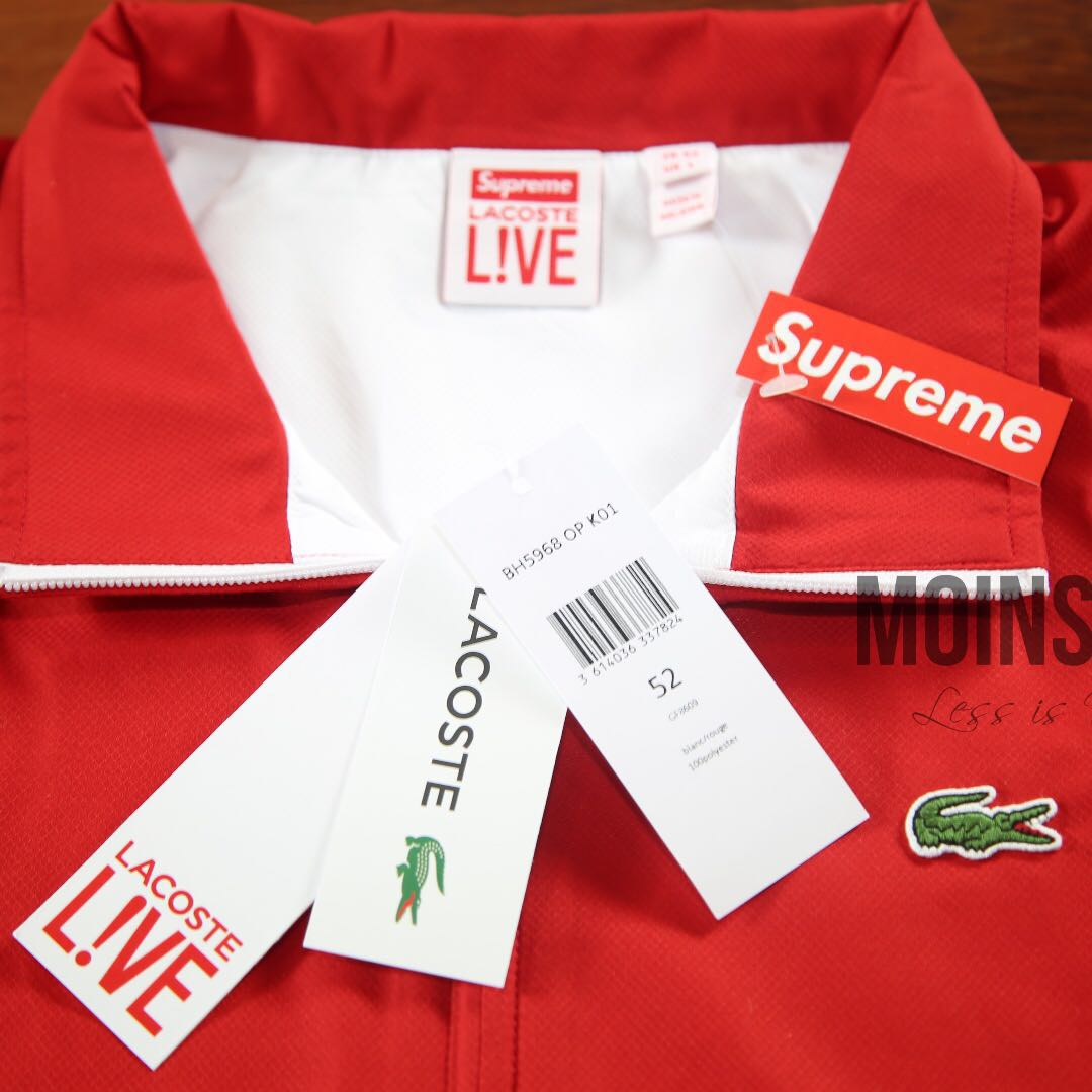 SUPREME Lacoste Track Jacket - Red SS17