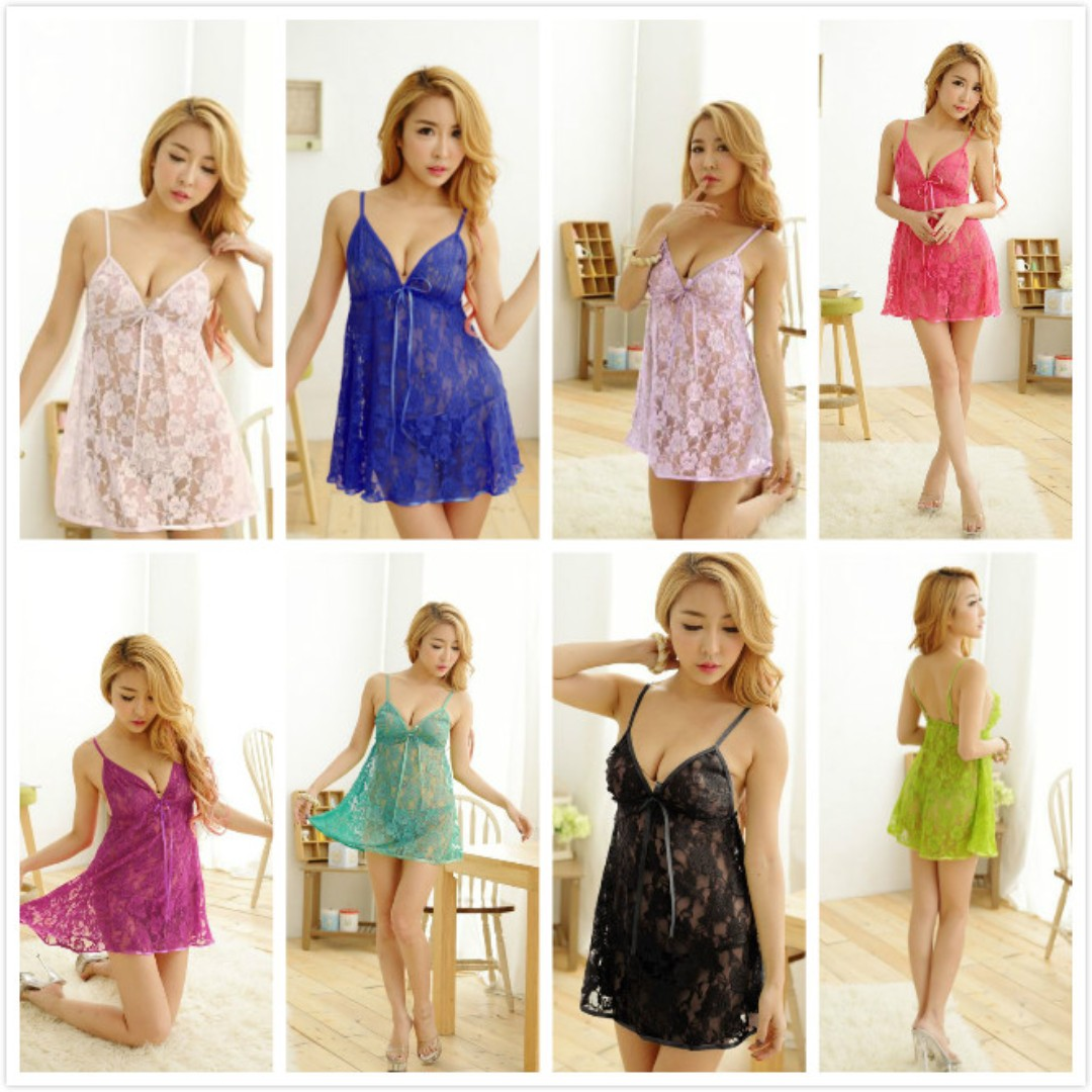 d4ddbf2fcdf5 TCWK Sexy Women Nightdress Lingerie Sleepwear With 10 Colour H000 ...