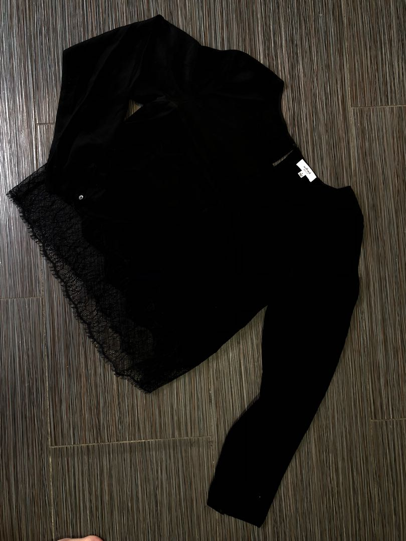 Wilfred Black Lace Camisole