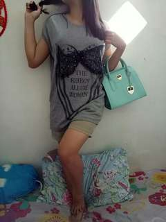 Mini dress rajut import
