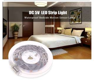 DC 5V 2.5W 200LM 1.5M 45 LEDs Strip Light Waterproof Bedside Motion Sensor Lamp