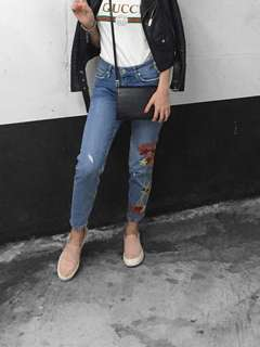 Zara Floral Denim