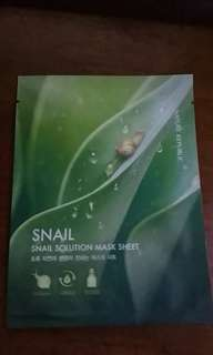 Snail mask sheet and real nature mask nature republic ori