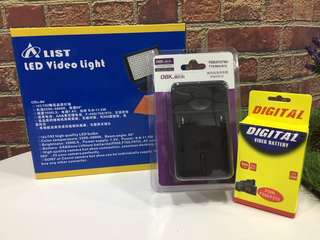 Alist LED light kit with battery & charger