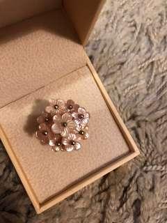 Mimosa 貝母925 純銀戒指
