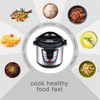 ISKRA) 6L Electric Pressure Cooker Timer Rice Cooker