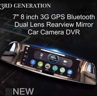 HYUNDAI Android GPS Navigation 7 Inch Car DVR Front and Rear view Mirror WIFI Navigator 16GB ROM/1GB RAM  FHD 1080P Dash Cam