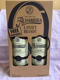 Alhambra Light 1Liter x 2 bottles with free headset in a box